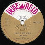 Guess I This Riddle / Riddle Ver - Eddie Ford