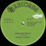 Babylon Walls / Dub / I Want To Be - Delroy Pinnock / Dicky Dread and Mikey Ranks