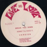 Break You Down / Cant Hurry Love - Home T and Cocoa Tea / Shirley McLean