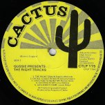Gussie Presenting The Right Tracks - Various..Tommy McCook..Gregory Isaacs..Dennis Brown..Leroy Sibbles