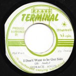 I Dont Want To Be Outside / Dub Inside - Horace Andy / The Sunshot Band