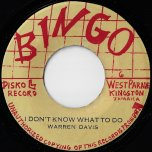 I Dont Know What To Do / Ver - Warren Davis