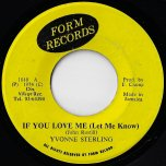 If You Love Me Let Me Know / Ver - Yvonne Sterling / Yvonne Sterling All Stars