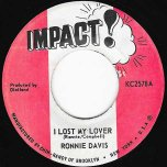 I Lost My Lover / Chapter Two Dub - Ronnie Davis