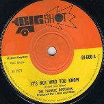 Its Not Who You Know / I Need Someone - The Twinkle Brothers / The Ethiopians