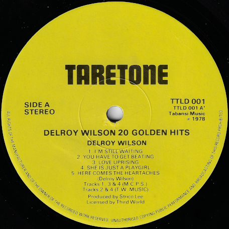 20 Golden Hits - Delroy Wilson