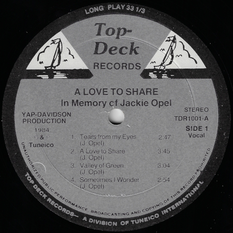 A Love To Share - Jackie Opel