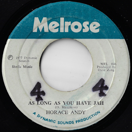 As Long As You Have Jah / Sleep Is Awake - Horace Andy / Zangers / King Tubby