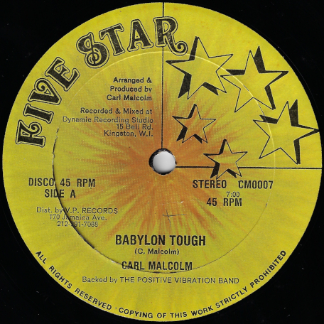 Babylon Tough / Adinah - Carl Malcolm