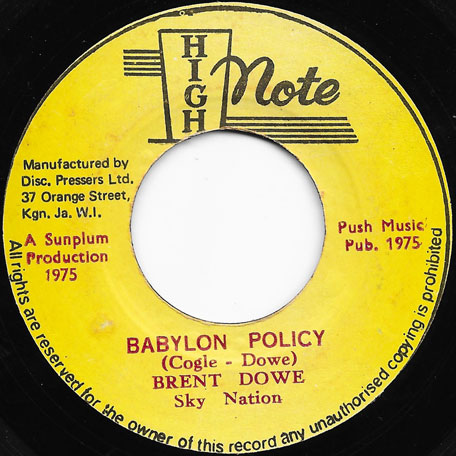 Babylon Policy / Ver - Brent Dowe / Sky Nation