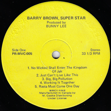 Superstar - Barry Brown