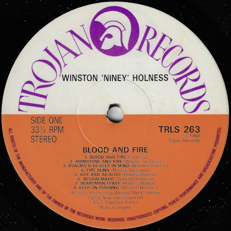 Niney And Friends Blood And Fire 1971- 1972 - Various..Niney..Big Youth..Max Romeo