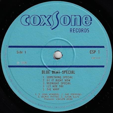 Blue Beat Special - Various..Soul Vendors..The Termites..Jackie Mittoo..Alton Ellis..Keith And Ken