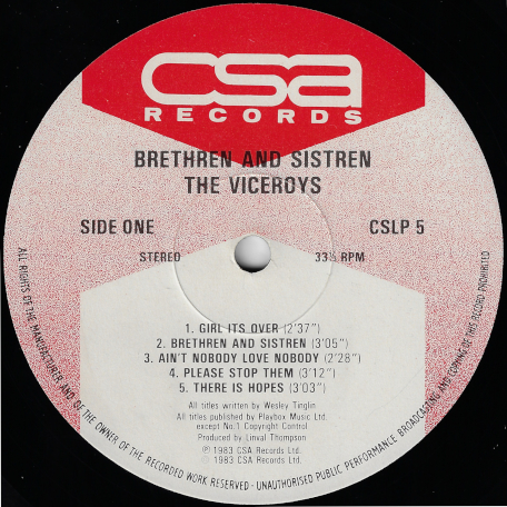 Brethren And Sistren - The Viceroys