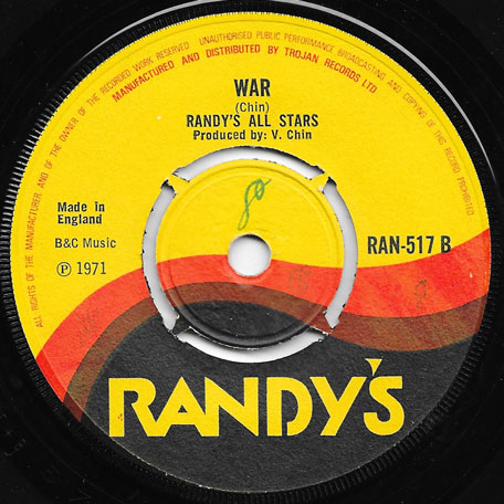 Bridge Over Troubled Waters / War - Jimmy London / Randys All Stars