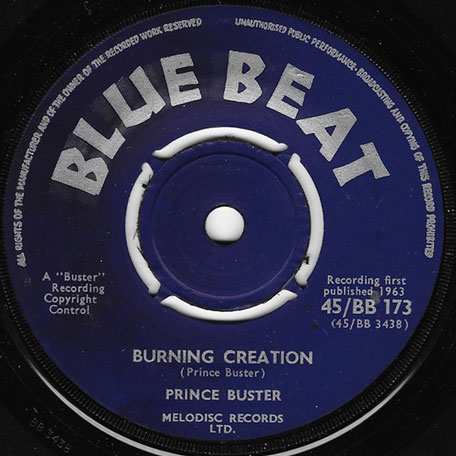 Burning Creation / Boop - Prince Buster And The All Stars