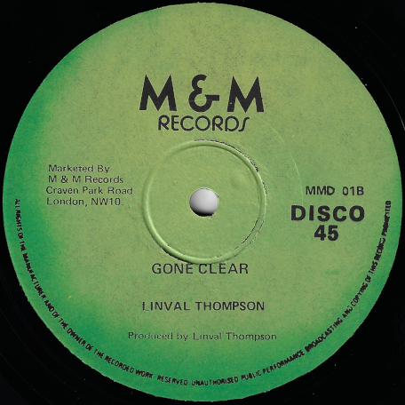 Cant Stop Natty Dread / Gone Clear - Linval Thompson / Scientist