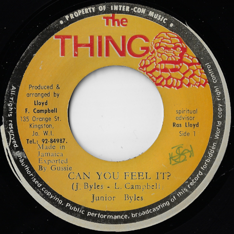 Can You Feel It / I A Feel It Ver - Junior Byles