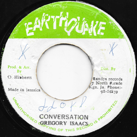 Conversation / Ver - Gregory Isaacs  / Ossie And The Revolutionaries