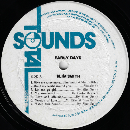 Early Days - Slim Smith