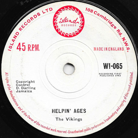 Helpin Ages / Hallelujah - The Vikings AKA The Maytals