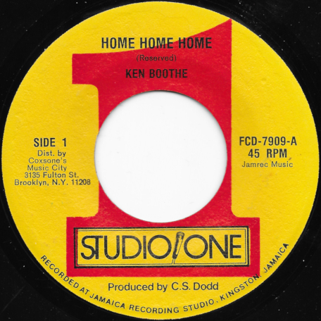 Home Home Home / Windel - Ken Boothe / The Soul Brothers