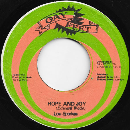Hope And Joy / Little Donkey - Lou Sparkes AKA Lloyd Parks / Lloyd Parks And Maxine