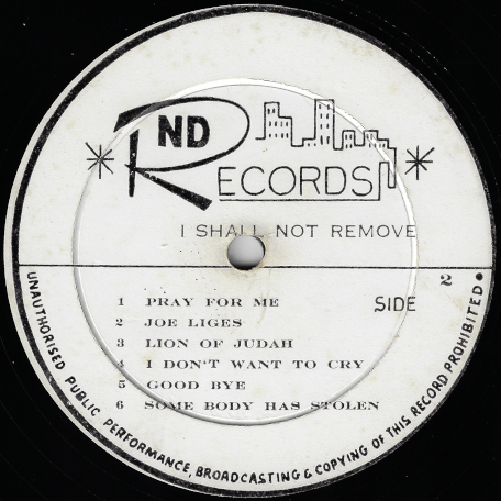 I Shall Not Remove - Delroy Wilson