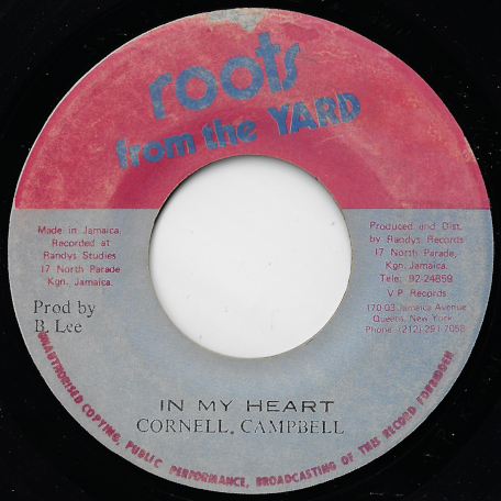 In My Heart / Heart Ver - Cornell Campbell / King Tubby