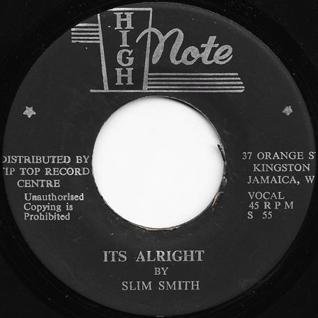 Its Alright / The Time Has Come - Slim Smith
