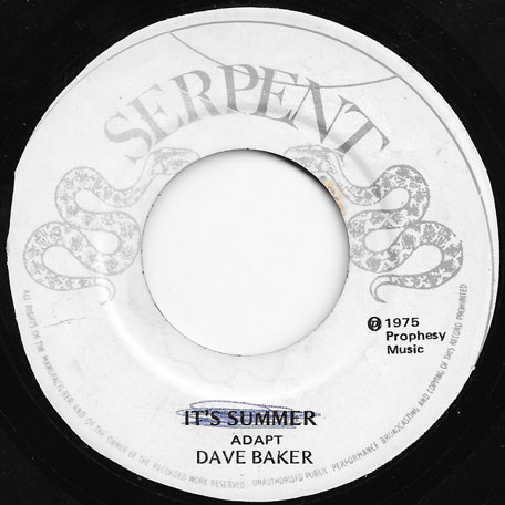 Its Summer / Unknown Inst - Dave Barker
