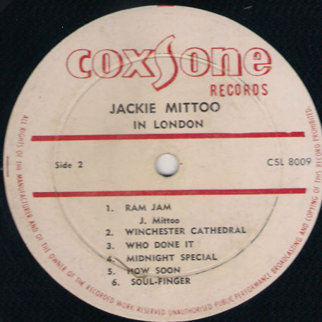 Jackie Mittoo In London - Jackie Mittoo