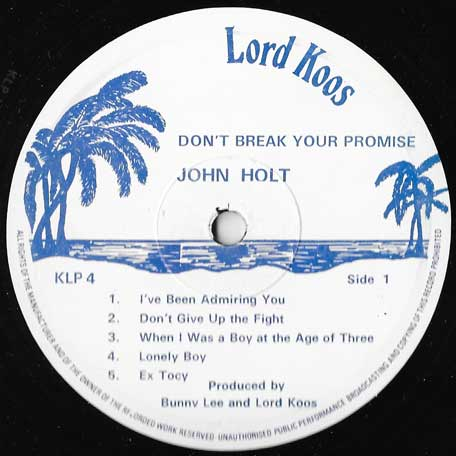 Dont Break Your Promise - John Holt