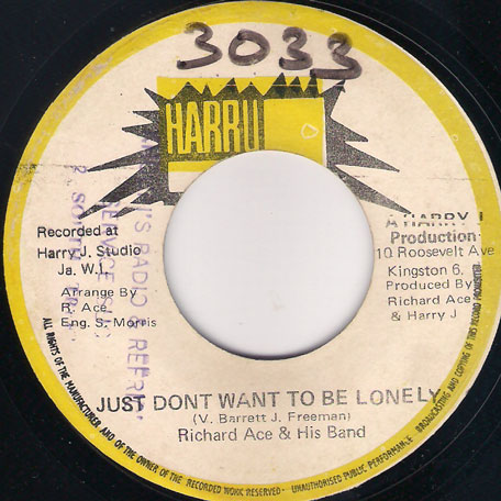 Just Dont Want To Be Lonely / Ver - Richard Ace And His Band