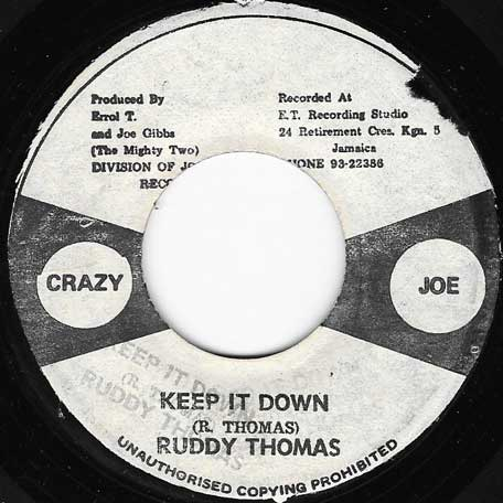 Keep It Down / Down With It Ver - Ruddy Thomas
