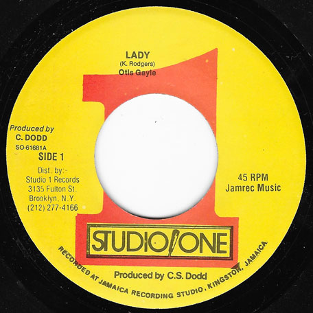 Lady / Dub For Lady - Otis Gayle And The Brentford Rockers