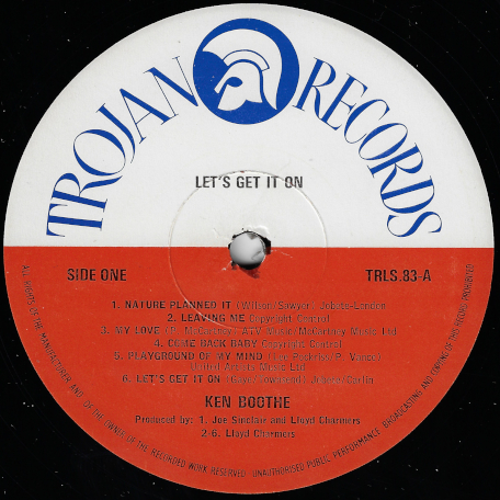 Lets Get It On - Ken Boothe