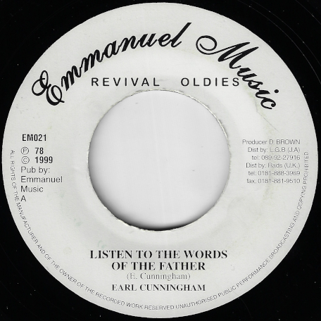 Listen To The Words Of The Father / Ver - Earl Cunningham