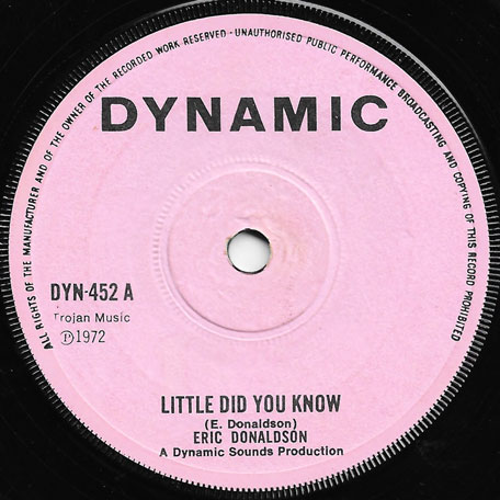 Little Did You Know / Ver - Eric Donaldson