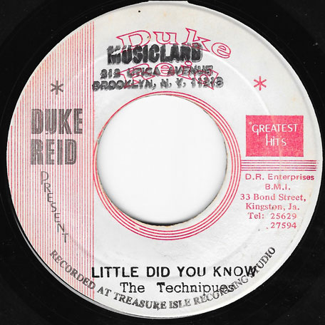 Little Did You Know / The Ball - The Techniques / Earl Lindo
