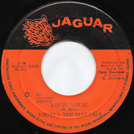 Louie Louie / Country Road - Toots And The Maytals