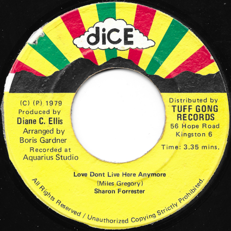 Love Dont Live Here Anymore / Dub - Sharon Forrester