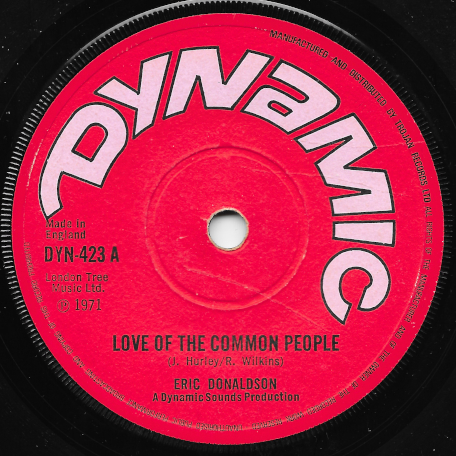 Love Of The Common People / The Dragons Net - Eric Donaldson / The Dragonaires