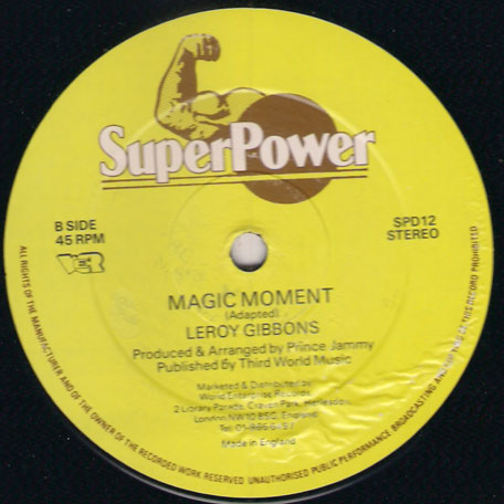Magic Moment / Shes My Baby - Leroy Gibbons
