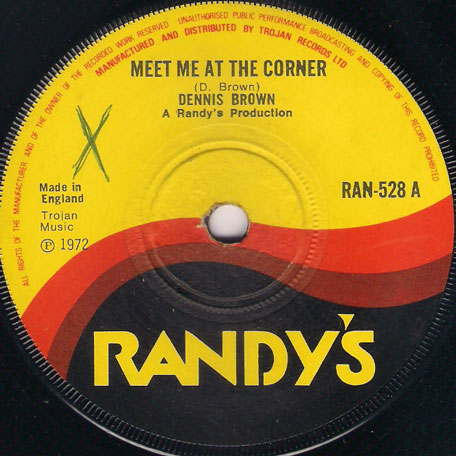 Starting All Over Again (Ver) / Meet Me At The Corner (Ver) - Tommy McCook and The Randys All Stars