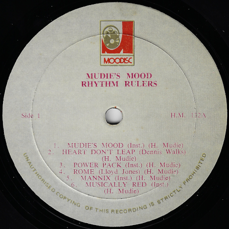 Mudies Mood - Various..Rhythm Rulers..Dennis Walks..Ebony Sisters..Eternals