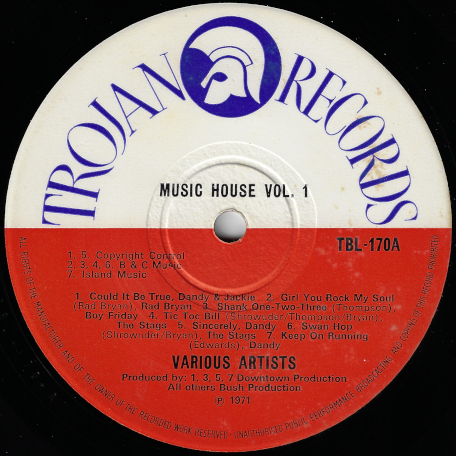 Music House Vol One - Various..Rad Bryan..Boy Friday..The Stags..Honey Boy..Ansel Collins