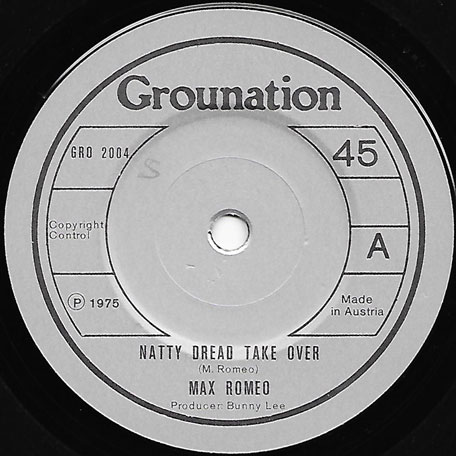 Natty Dread Take Over / Laughing Dread - Max Romeo / The Aggrovators