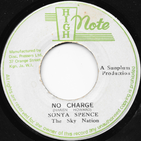 No Charge / Dub Writing  - Sonya Spence / The Sky Nation