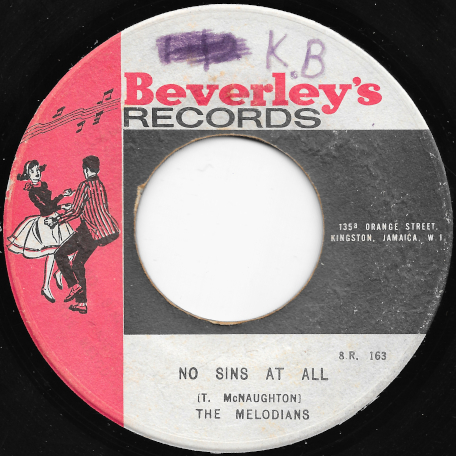 No Sins At All / Ver - The Melodians / Beverleys All Stars